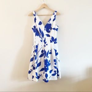 Ralph Lauren | Blue Floral Fit and Flare Dress 2